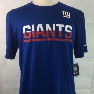 NWT Nike Dri Fit New York Giants Blue Size Large